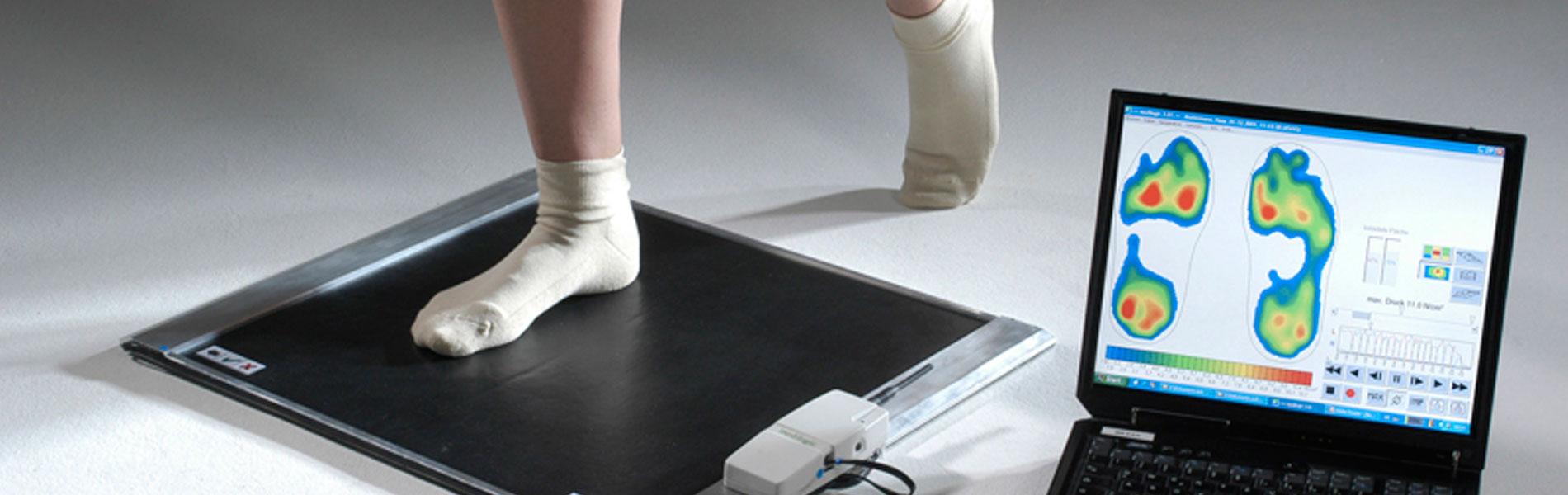 Fußdruckanalyse mit professioneller Technik bei uns möglich.